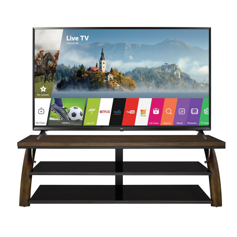 "55"" Class (54.6"" Diag.) Smart 4K UHD TV & 70"" TV Console Bundle"