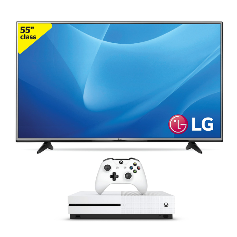 "55"" Class (54.6"" Diag.) 4K UHD LED Smart TV & 500GB Xbox One S Bundle"