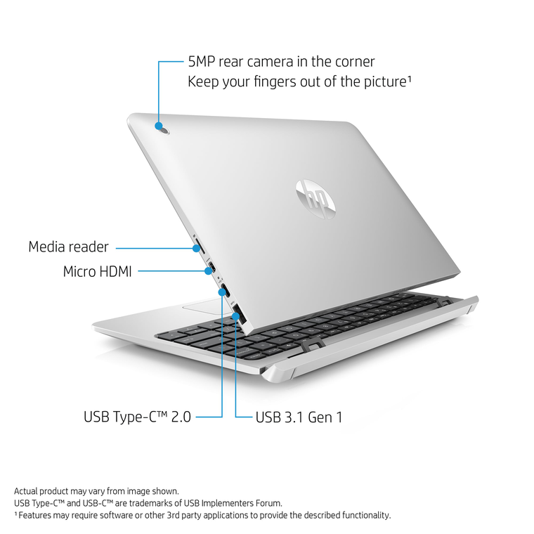 "10"" 2-in-1 Detachable Laptop with Total Defense Internet Security"