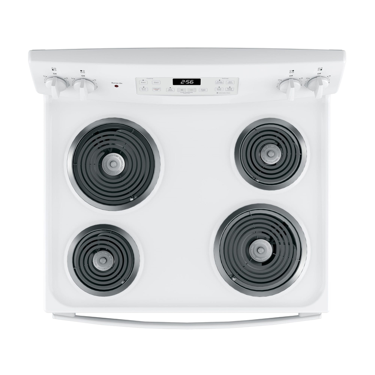5.0 cu. ft. Self Clean Electric Range with Coil Cooktop - White