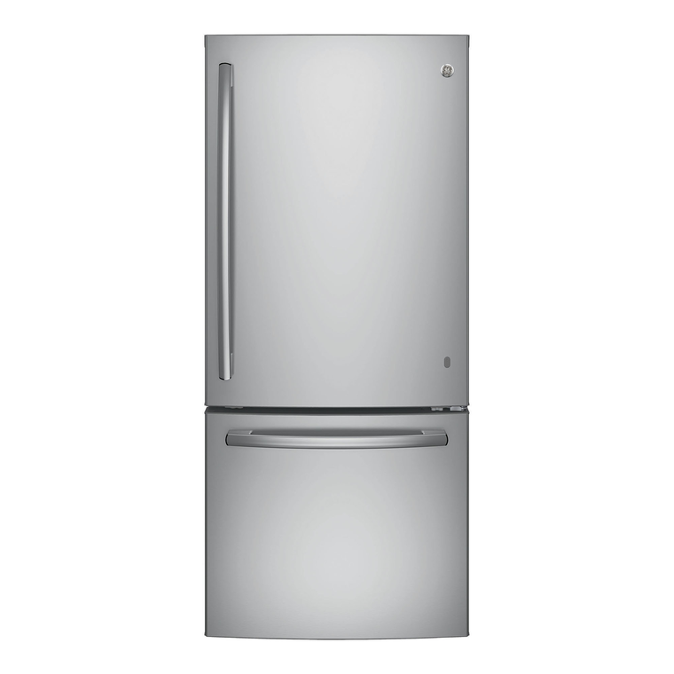 20.9 cu. ft. Bottom Freezer Refrigerator - Stainless Steel