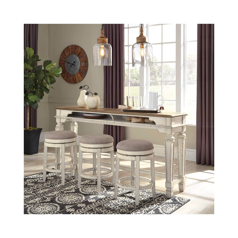 4-Piece Realyn Bar Set with 3 Stools