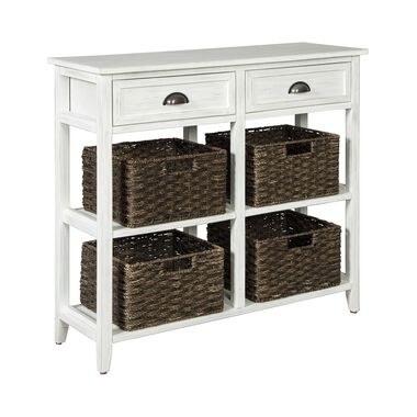 Oslember Console Sofa Table - White
