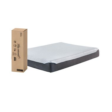 "10"" Tight Top Firm Twin Memory Foam Boxed Mattress with Platform Frame"