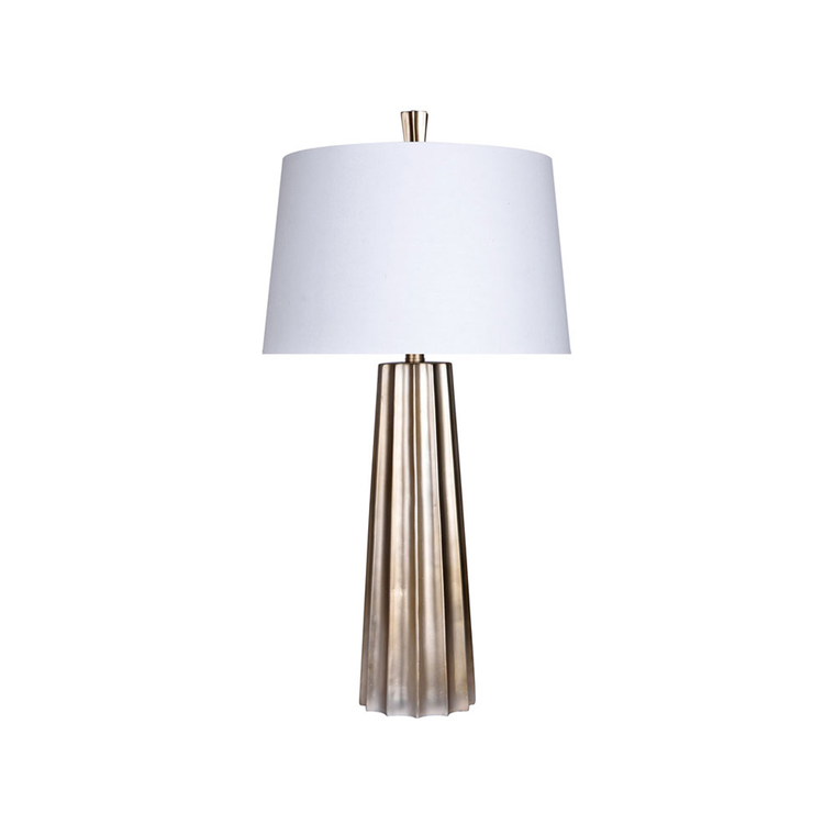 7-Piece Ember Living Room Collection with Golden Bronze Lamps