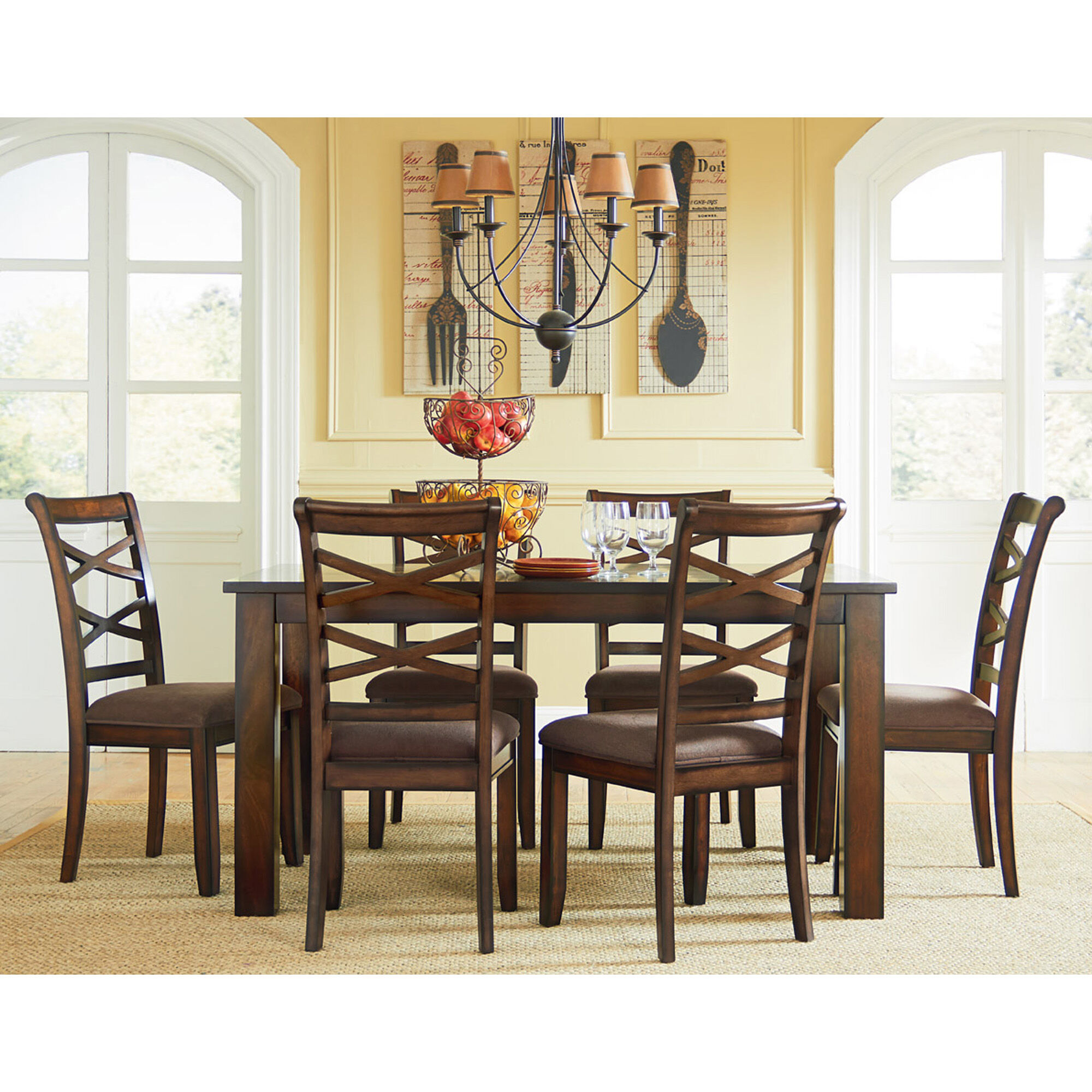 7 Piece Redondo Dining Room Collection Rent to