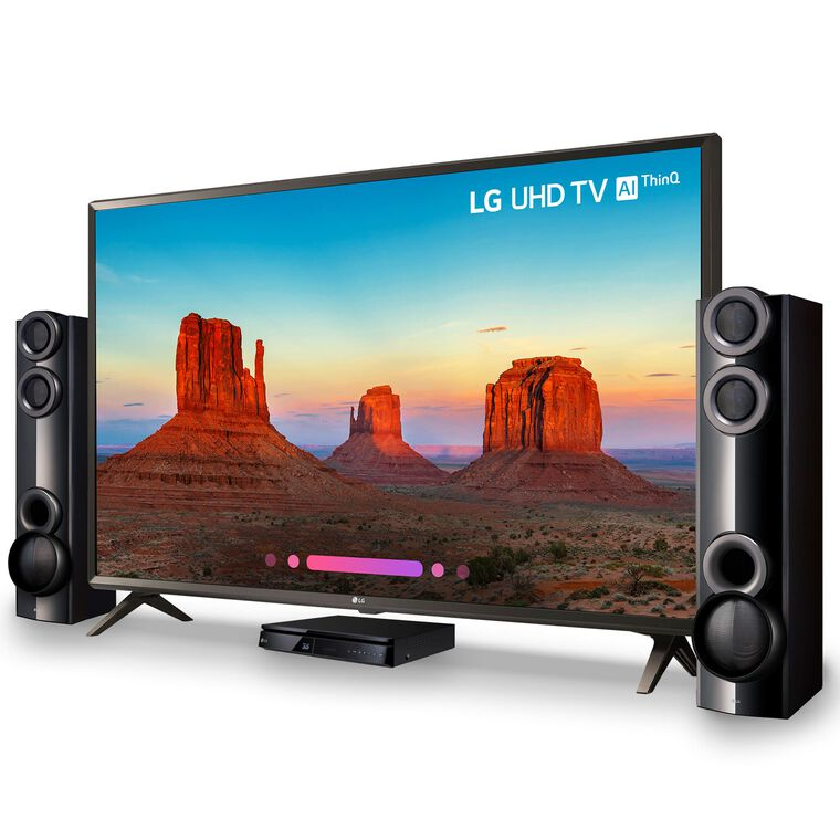 "75"" Class (74.5"" Diag.) Smart 4K UHD TV & 1000W Home Theater System Bundle"