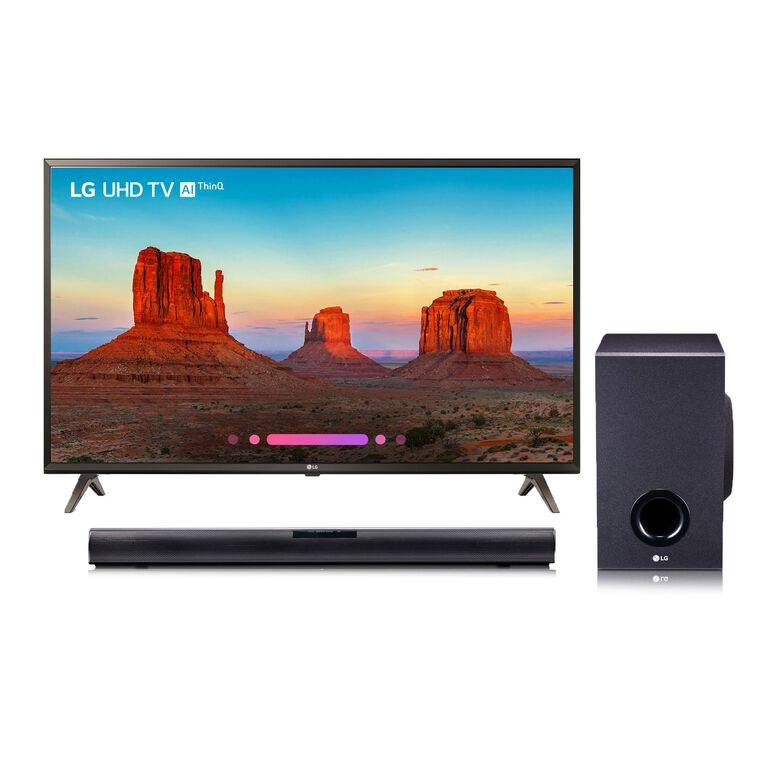 "65"" Class (64.5"" Diag.) Smart 4K UHD TV & 160W 2.1Ch Sound Bar Bundle"