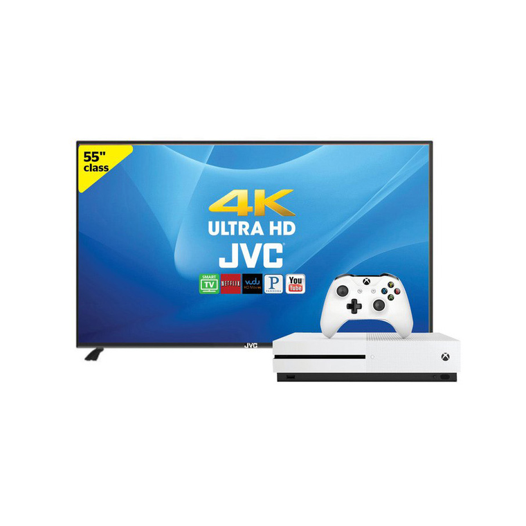 """55"""" (54.5"""" Diag) Smart 4K UHD TV with Xbox One S 500GB 