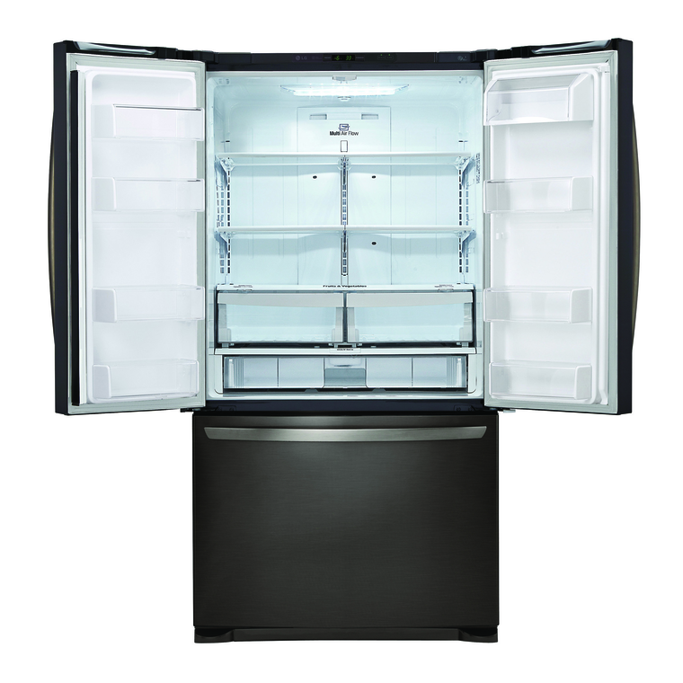 25.4 cu. ft. 3-Door French Door Refrigerator with Ice Maker - Black Stainless
