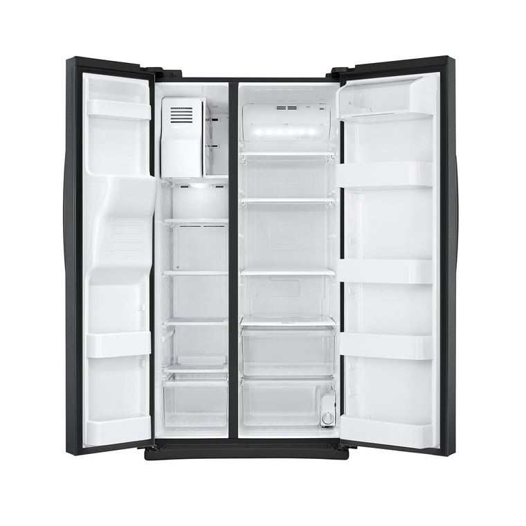 25 cu. ft. Side-by-Side Refrigerator with Ice and Water - Black Stainless