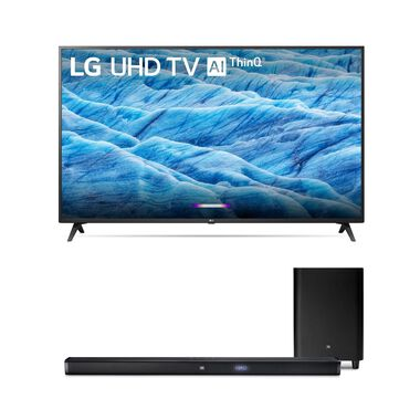 "49"" Class 4K UHD LED Smart TV & JBL 450W 3.1Ch Ultra HD Sound Bar Bundle"