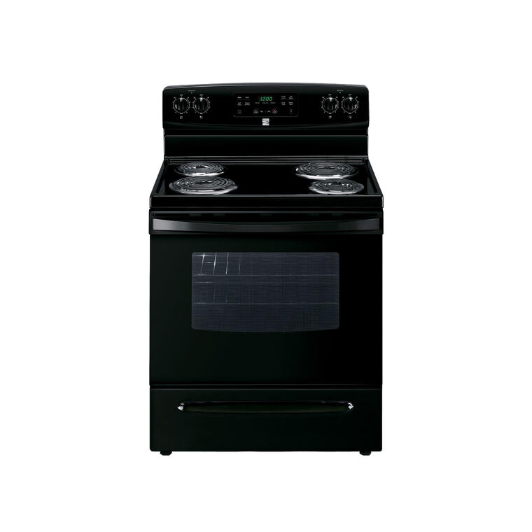 5.3 cu. ft. Self-Clean Coil Range - Black