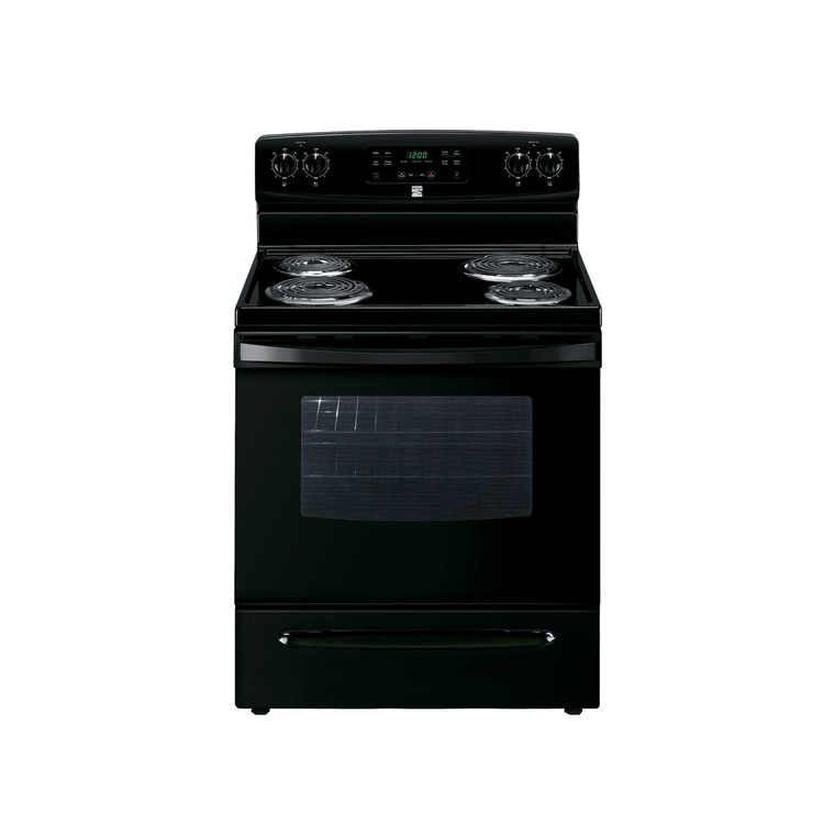 5.3 cu. ft. Self-Clean Coil Range - Black at Aaron's in Lincoln Park, MI | Tuggl