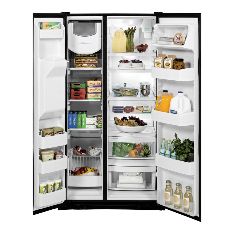 25.3 cu. ft. Side-by-Side Refrigerator with Ice and Water - Black
