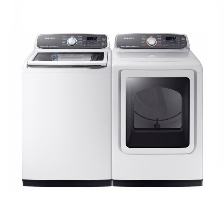 5.2 cu. ft. Energy Star Top Load Activewash™ Washer & 7.4 cu. ft. Electric Steam Dryer