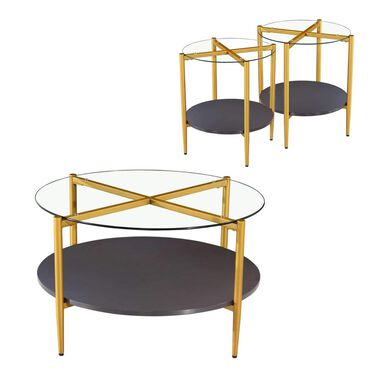 3-Piece Rachel Cocktail & End Tables Bundle
