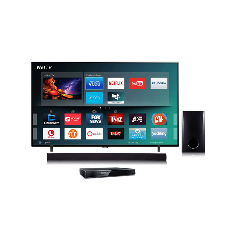 "65"" Class (64.5"" Diag.) Smart 4K UHD TV with Blu-ray Player and Sound Bar Bundle"