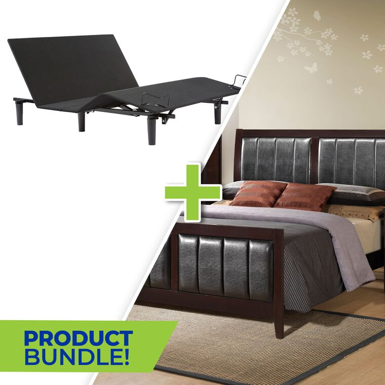 7-Piece Lawrence Queen Bedroom with Beautyrest Adjustable Power Base