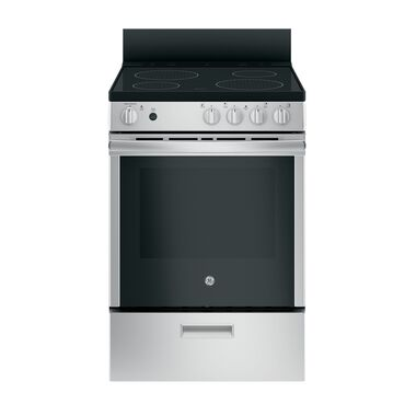 "24"" 2.9 cu. ft. Standard Clean Electric Range with Ceramic Cooktop - Stainless"