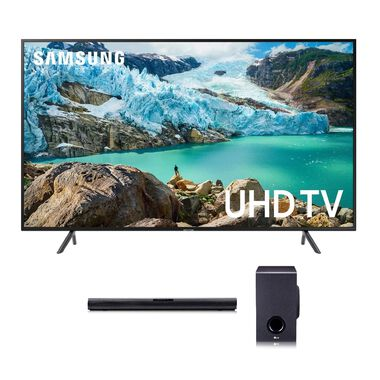 "65"" Class Smart 4K UHD TV & LG 160W 2.1Ch Sound Bar Bundle"