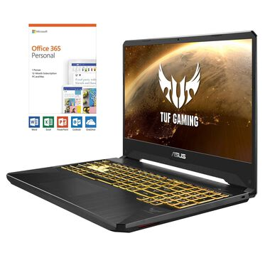"15.6"" TUF Gaming Laptop with Ryzen 7 CPU Microsoft Office 365 Personal & Total Defense Internet Security"