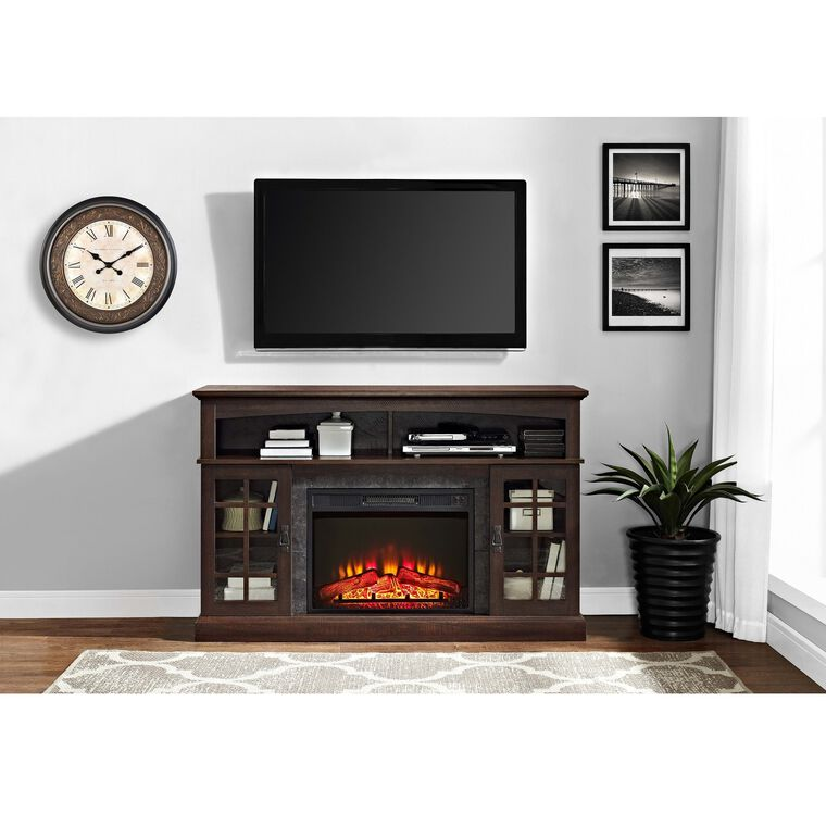 """54"""" Fireplace TV Console with 26"""" Firebox"""
