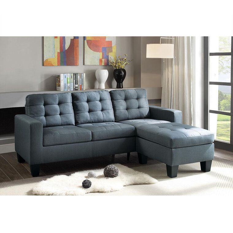 2-Piece Earsom Sectional  Living Room Collection with Ottoman