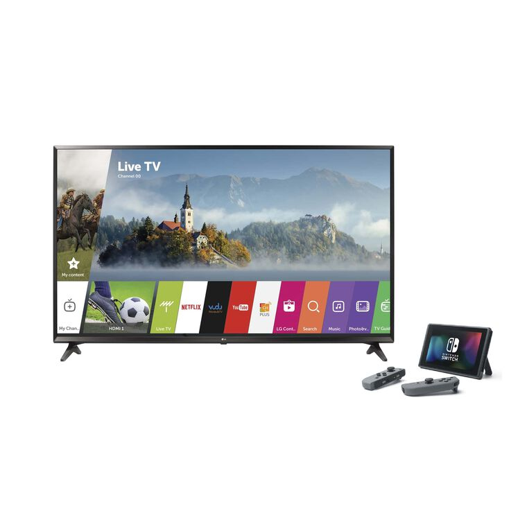 "49"" Class (48.5"" Diag.) 4K UHD LED Smart TV & Nintendo Switch Bundle"
