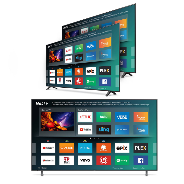 "3 TV Bundle 2-50"" Class Plus 1-55"" Class Smart 4K UHD TV"