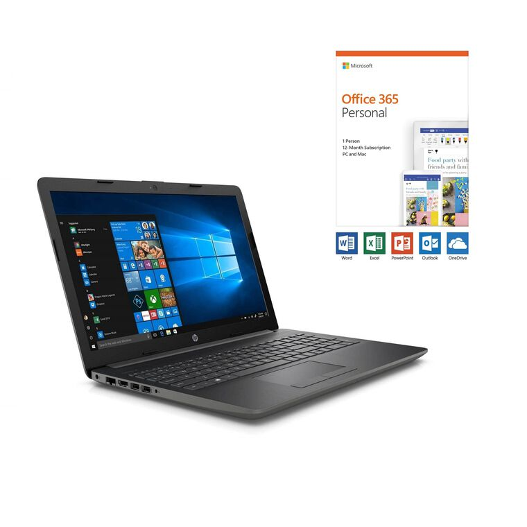 "15.6"" Laptop with Microsoft Office 365 Personal and Total Defense Internet Security"