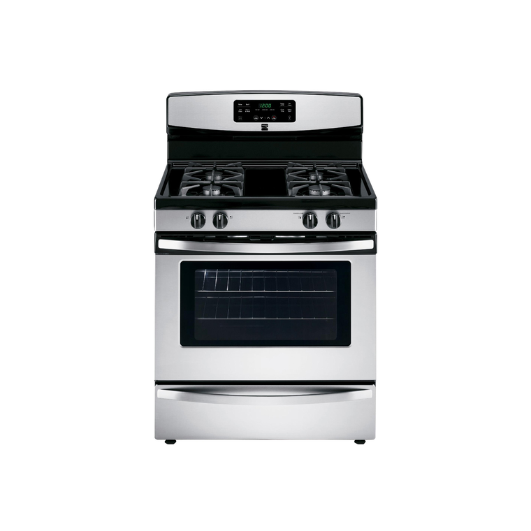 5.0 cu. ft. Self Cleaning Gas Range - Stainless Steel at Aaron's in Lincoln Park, MI | Tuggl