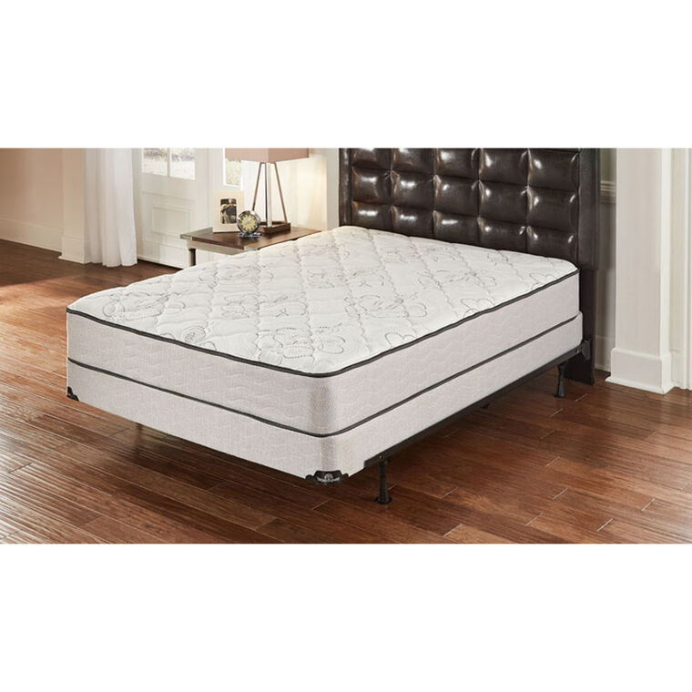 "Luxury Tight Top Firm Queen Mattress with 9"" Split Foundation and Protectors"