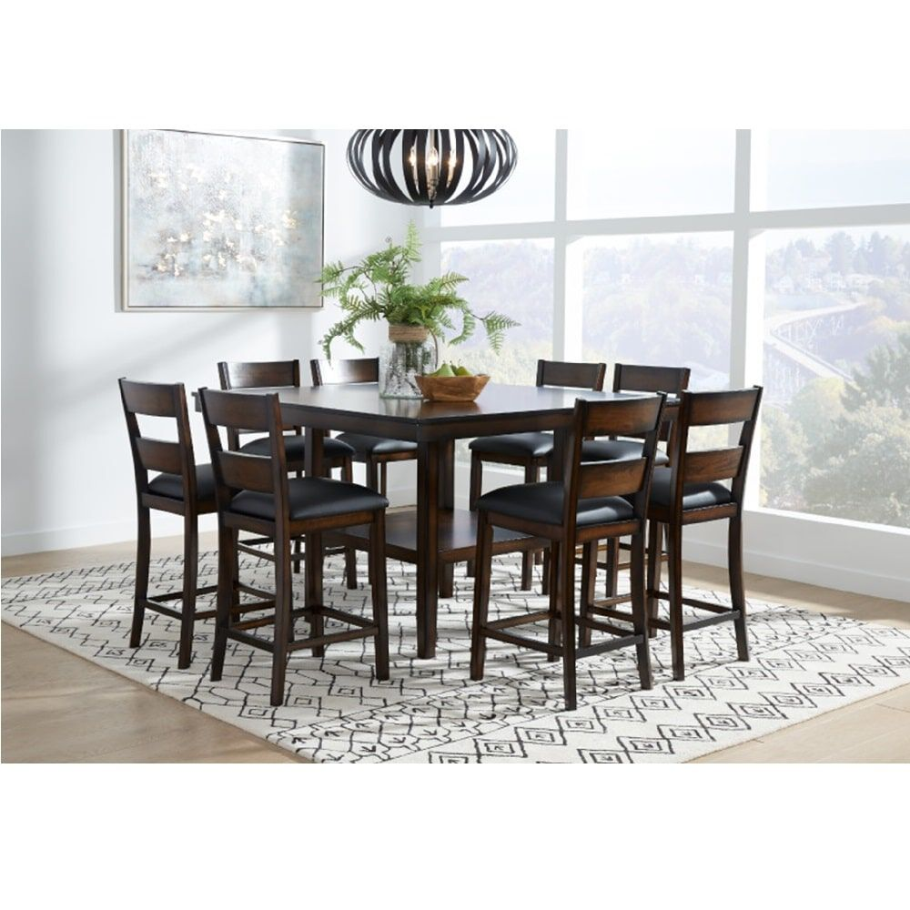 9 piece delaney counter height dining room collection