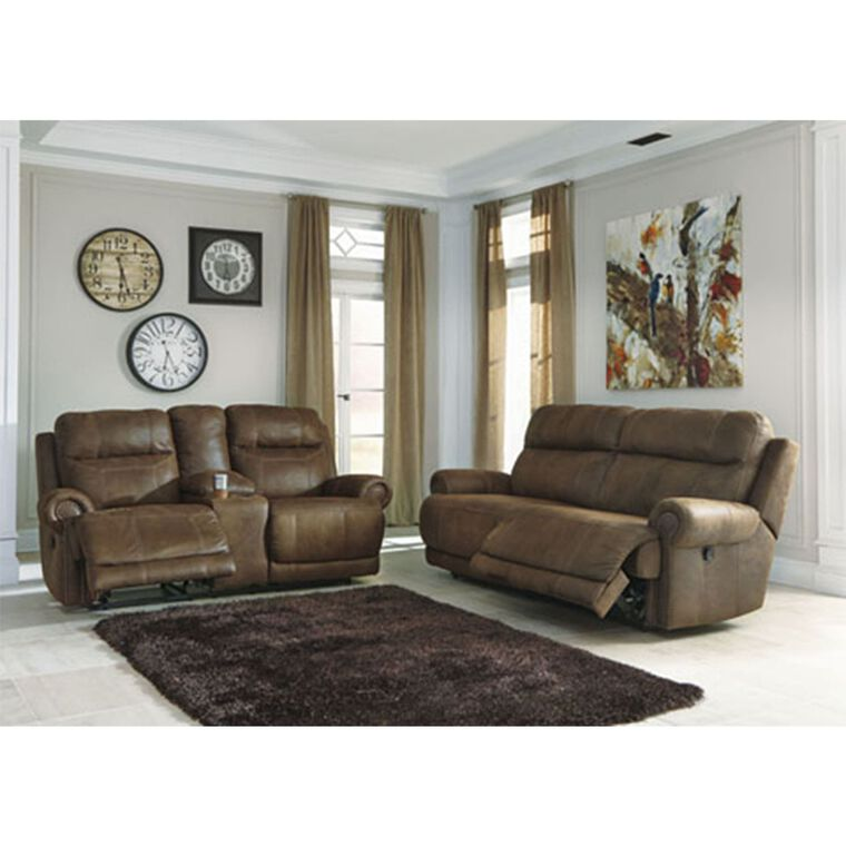 2-Piece Austere Living Room Collection - Brown
