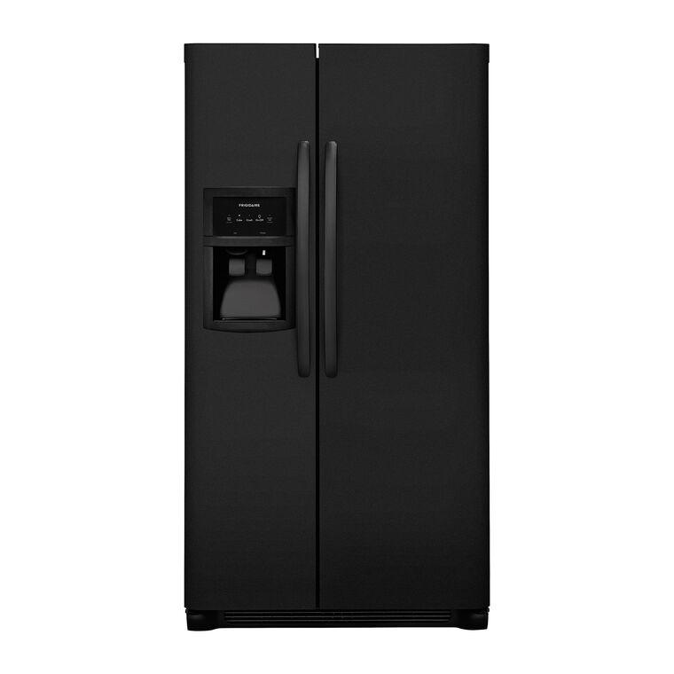22 cu. ft. Side by Side Refrigerator - Black