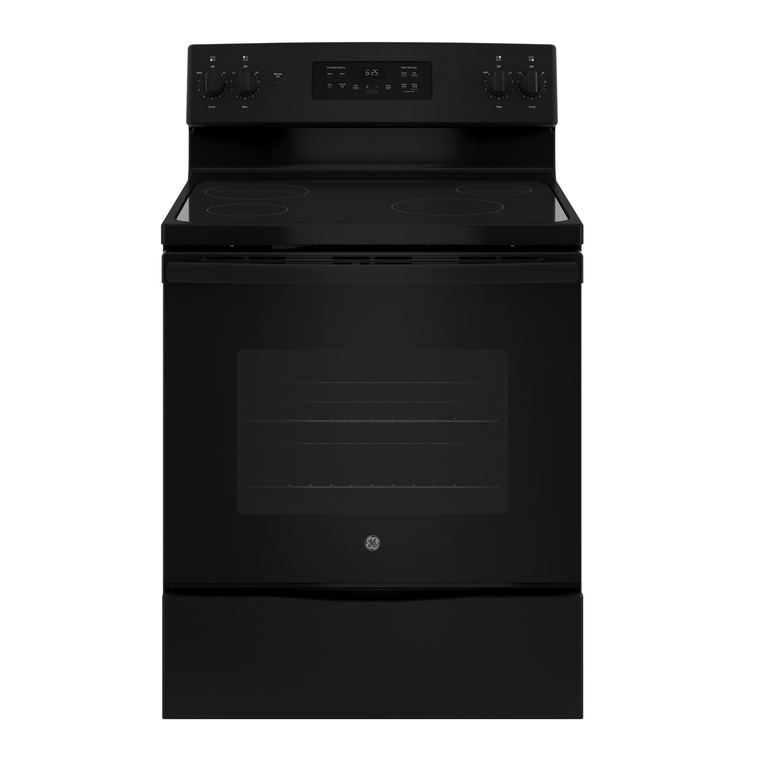 5.3 cu. ft. Self Cleaning Electric Range with Ceramic Cooktop - Black