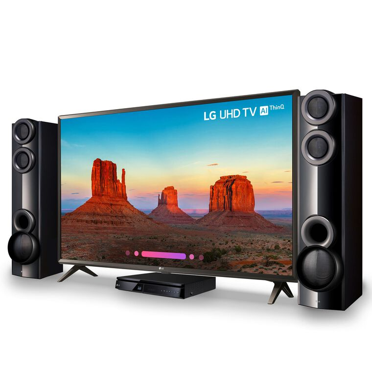 "55"" Class (54.6"" Diag.) Smart 4K UHD TV & 1000W Home Theater System Bundle"