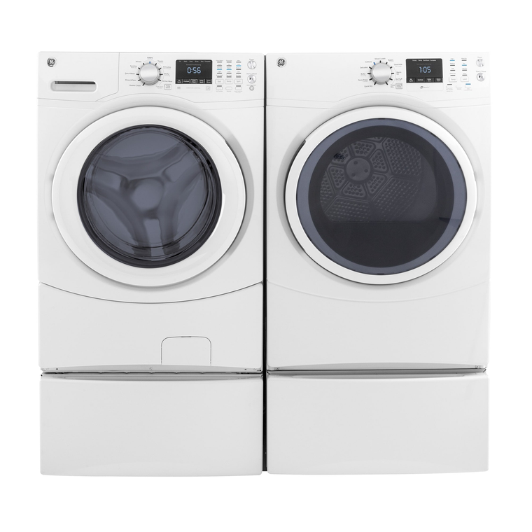 4.5 cu.ft. Front Load Energy Star Washer & 7.5 cu.ft. Electric Dryer with Pedestals