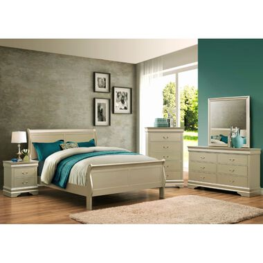 7-Piece Louis Philip Champagne Full Bedroom
