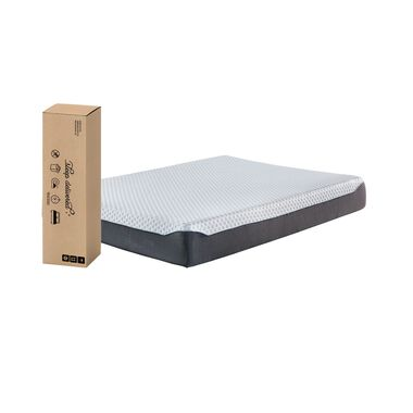 """10"""" Tight Top Firm Queen Memory Foam Boxed Mattress with Power Head Adjustable Base"""