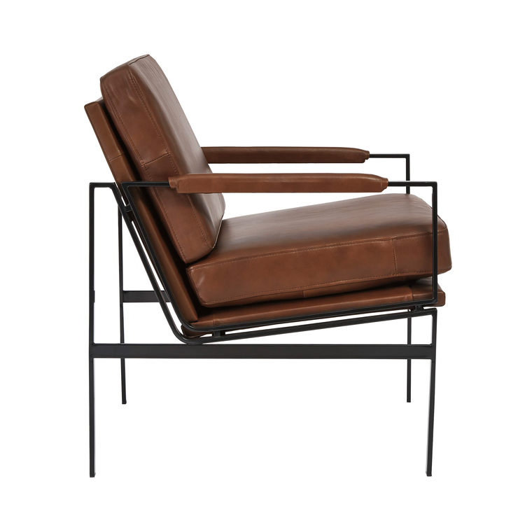 Puckman Accent Chair - Brown