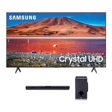 "65"" Class 4K UHD Smart TV & LG 160W 2.1Ch Sound Bar Bundle"