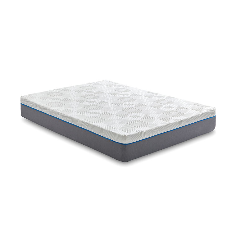 "12"" Tight Top Medium California King Gel Memory Foam Boxed Mattress"