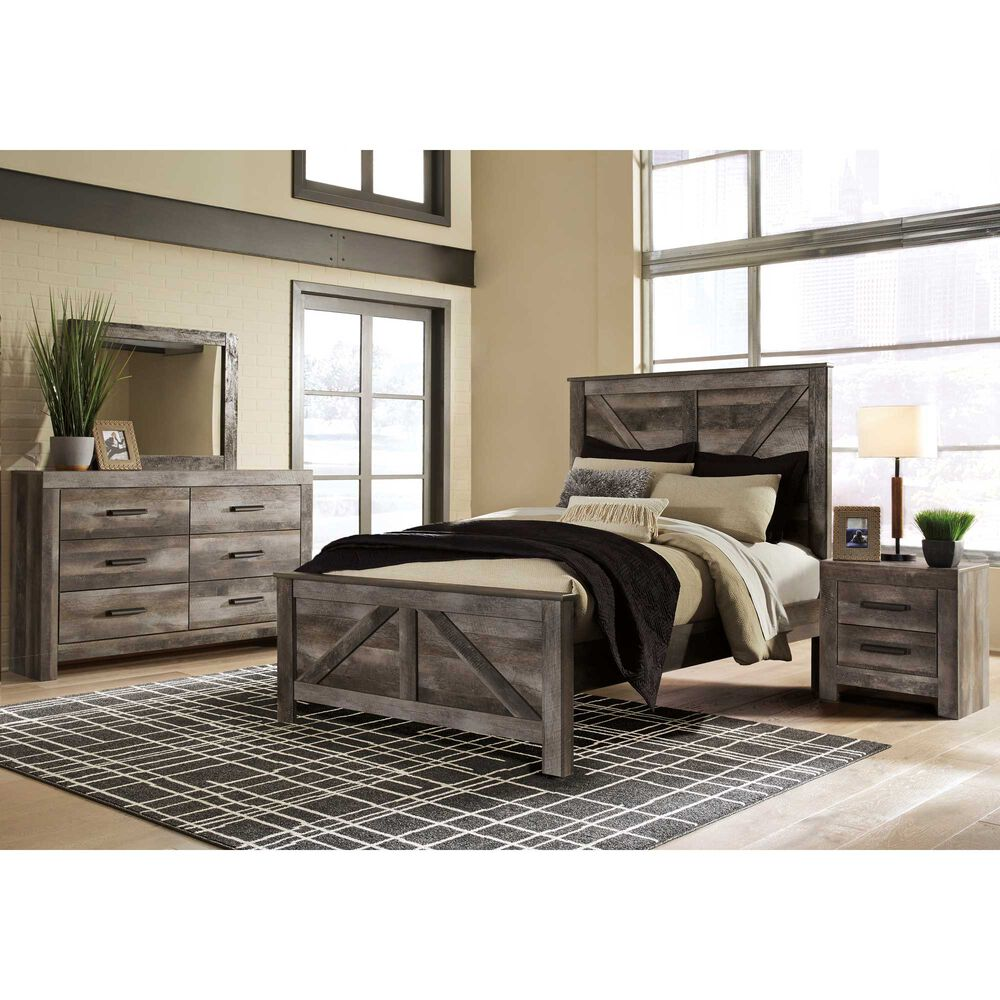 rent to own ashley 6piece wynnlow queen bedroom