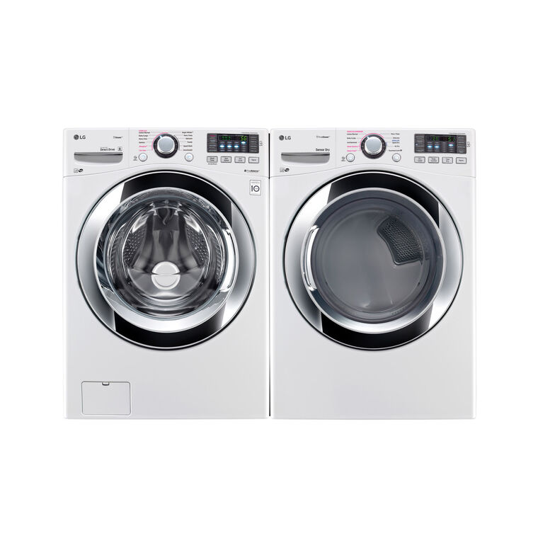 4.5 cu. ft. Large Steam Washer & 7.4 cu. ft. Large Electric Steam Dryer™
