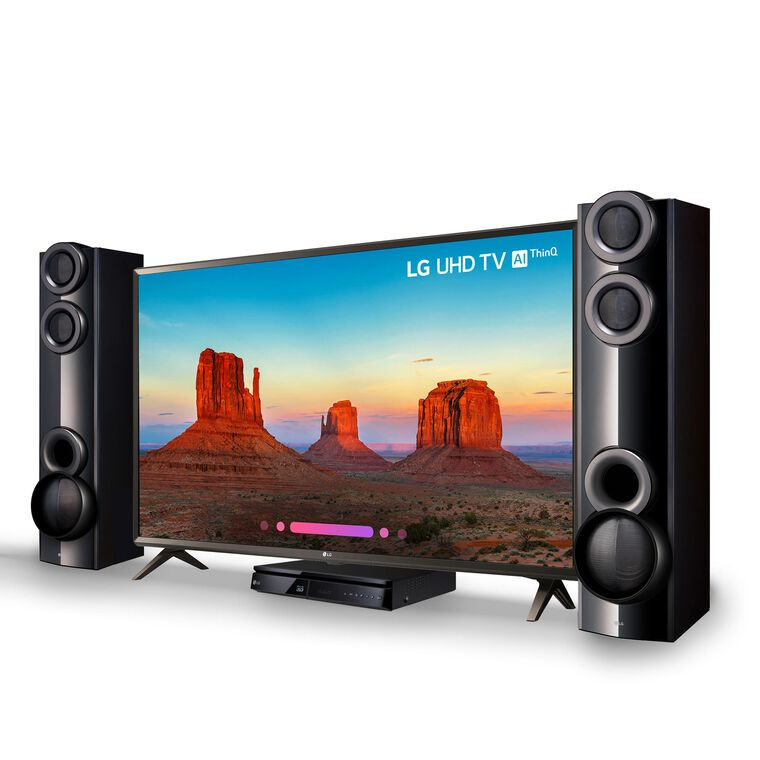 "49"" Class Smart 4K UHD TV & 1000W Home Theater System Bundle"