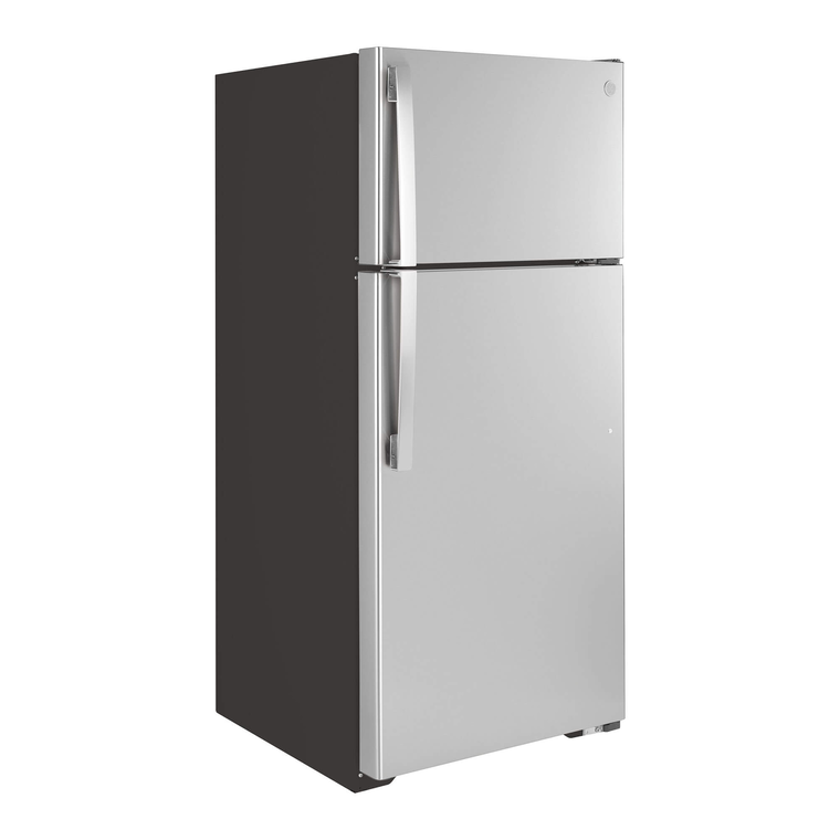 16.6 cu. ft. Top Mount Refrigerator - Stainless Steel