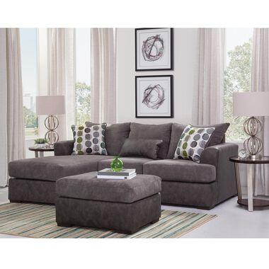 2-Piece Envy Chaise Sofa and Ottoman