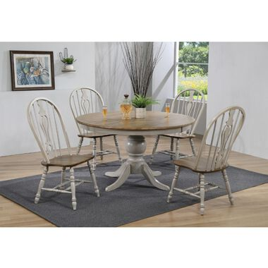 7-Piece Jack Dining Set with 6 Keyhole Chairs